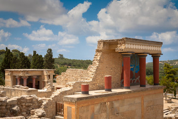Knossos palace at Crete