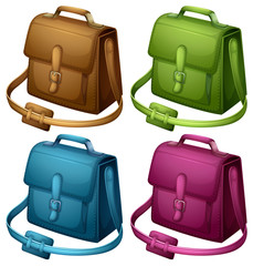 Four colourful bags