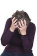 elderly woman depressed