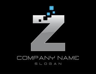 Techno letter Z