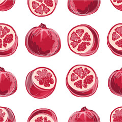 Pomegranate seamless pattern for your design