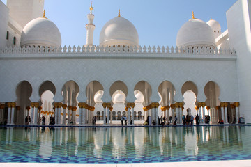 Abu Dhabi Mosque view