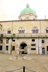 square in Brescia in northern Italy