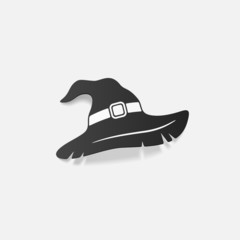 realistic design element: witch hat