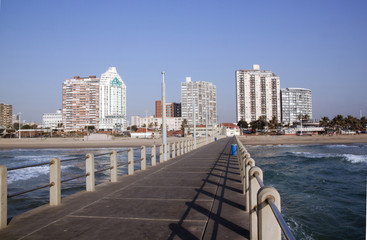 Hotels on Durban's Golden Mile as Viewed from Pier