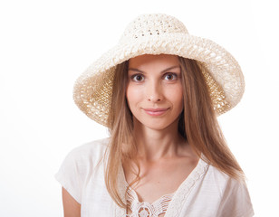 woman in a wide brimmed hat