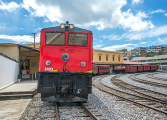 old electric locomotive train