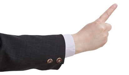 pointing index finger - hand gesture