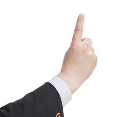 attantion sign - hand gesture