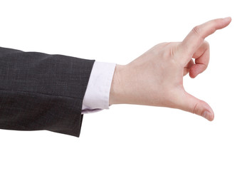 showing of large size - hand gesture