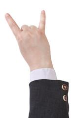 raised horns fingers - hand gesture