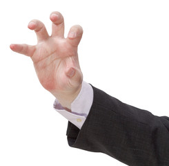 attacking palm - hand gesture