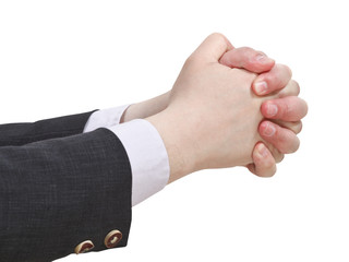 two clenched hands - hand gesture