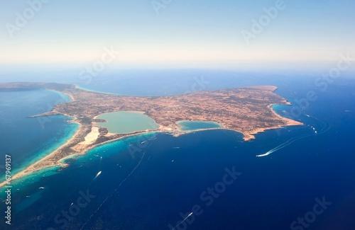 Leinwandbild Motiv Aerial view of Formentera.