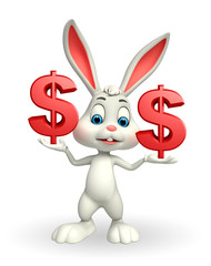 Easter Bunny with dollar