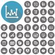 Economy icons set. Illustration eps10