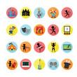 Entertainment icons set. Illustration eps10