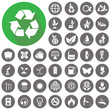 Environment icons set. Illustration eps10