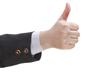 thumbs-up sign - hand gesture