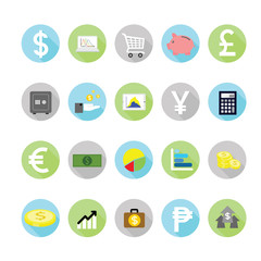 Finance icons set. Illustration eps10