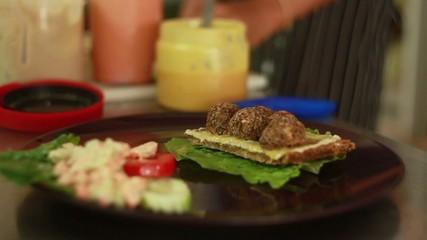 Cooking Vegan Food. Thailand restaurant.