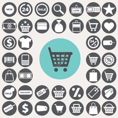 Shopping icons set. Illustration eps10