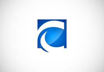 C letter alphabet business vector logo