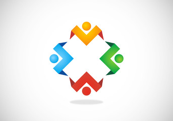 circle-people-teamwork-vector-logo