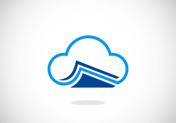 cloud-data-document-paper-vector-logo