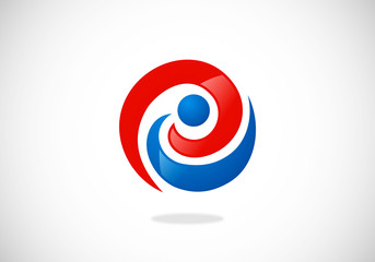 e-circle-communication-vector-logo