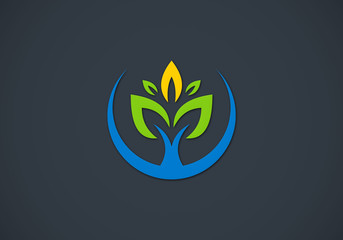 ecology plant clean abstract logo