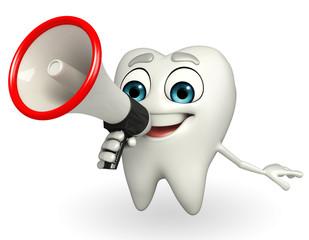 Teeth character with Loudspeaker