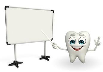 Teeth character with Display board