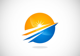 round-growth-shining-vector-logo