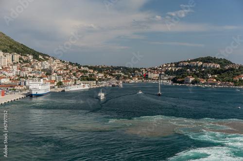 Poster Hafen von Dubrovnik