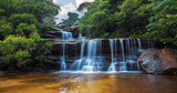 Fototapety Wentworth falls, upper section Blue Mountains, Australia