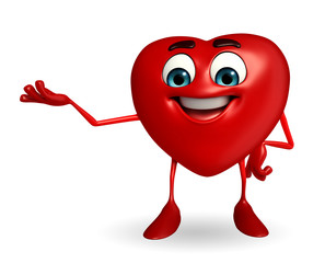 Heart Shape character with is presenting
