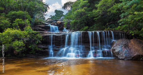 Foto op Aluminium Watervallen Wentworth falls, upper section Blue Mountains, Australia
