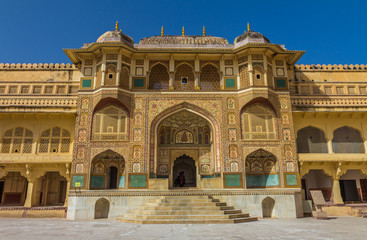 Palace in Amber Fort in Jaipur India