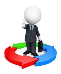 Business Man with circular graph