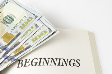 "Book And Pile Of Cash ""Beginnings"""