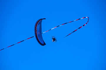 Motorized Glider in the Sky