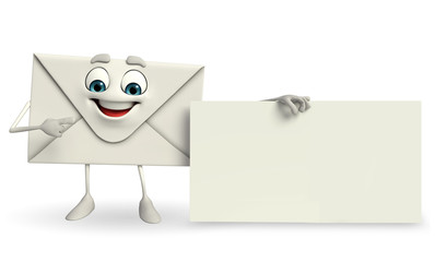Mail Character with sign