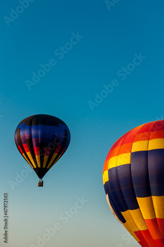 Hot Air Balloons Afloat In The Sky