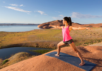 Yoga Workout at Lake Powell