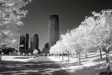 Infrared image of the Liberty Park in NJ