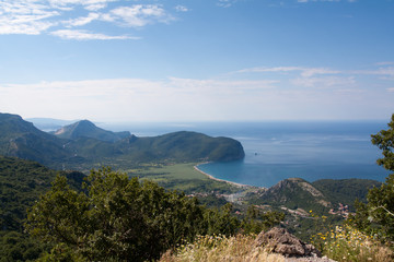 Sea Coastline Landscape in Montenegro