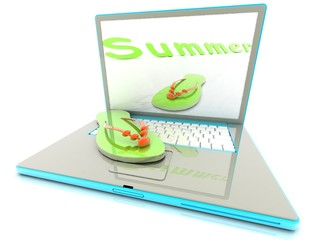 summer online (concept of online purchases)