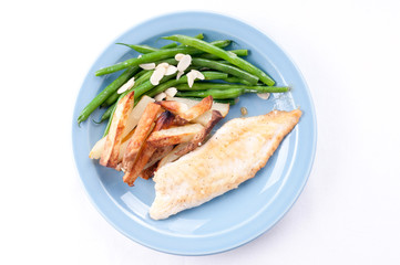 protein rich tilapia fish fillet with vegetables