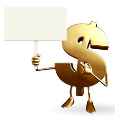 Dollar Character with sign